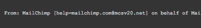 mailchimp email authentication