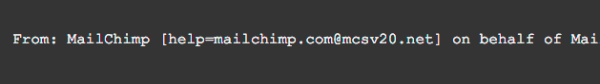 mailchimp email authentication
